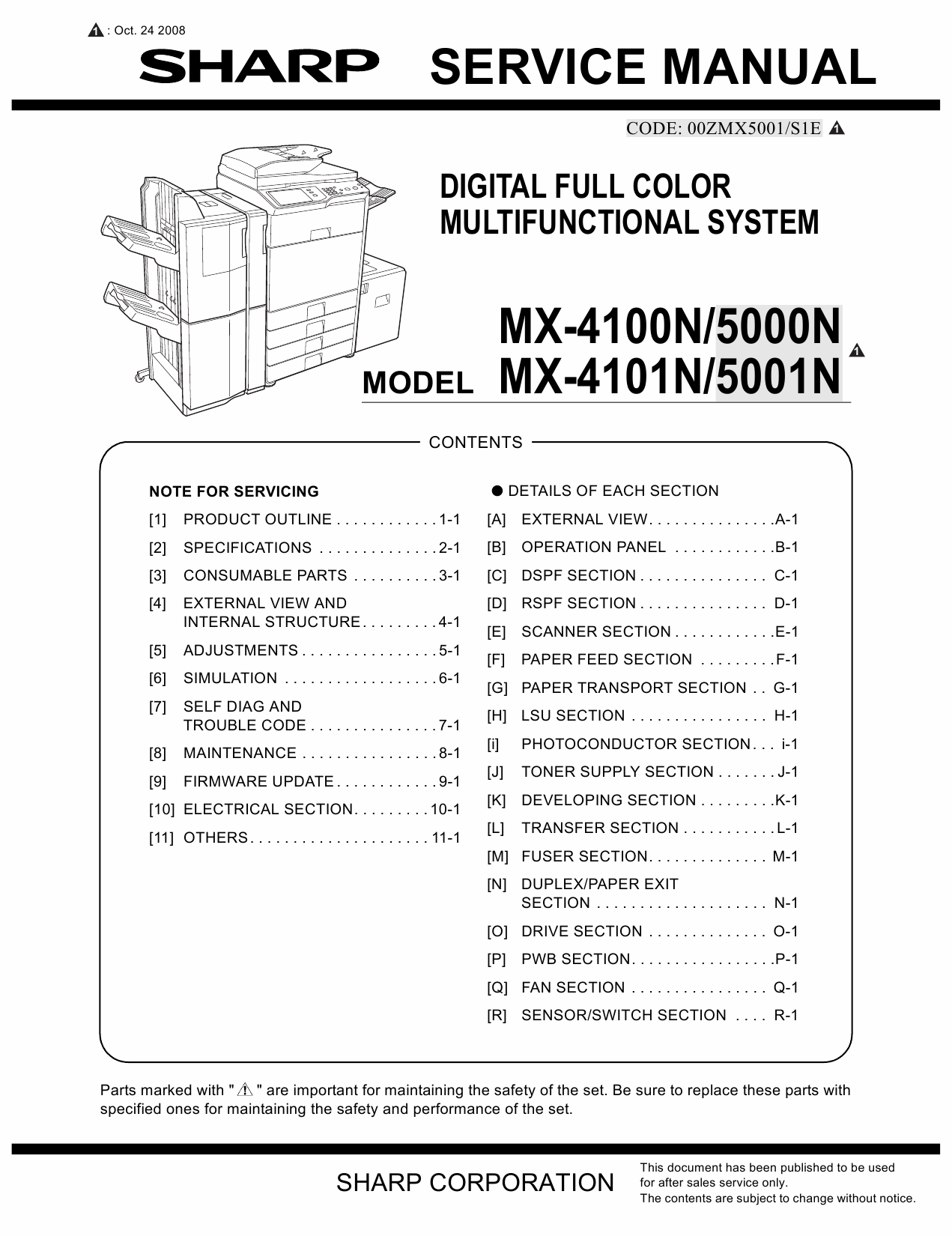 SHARP MX 4100 4101 5000 5001 N Service Manual-1